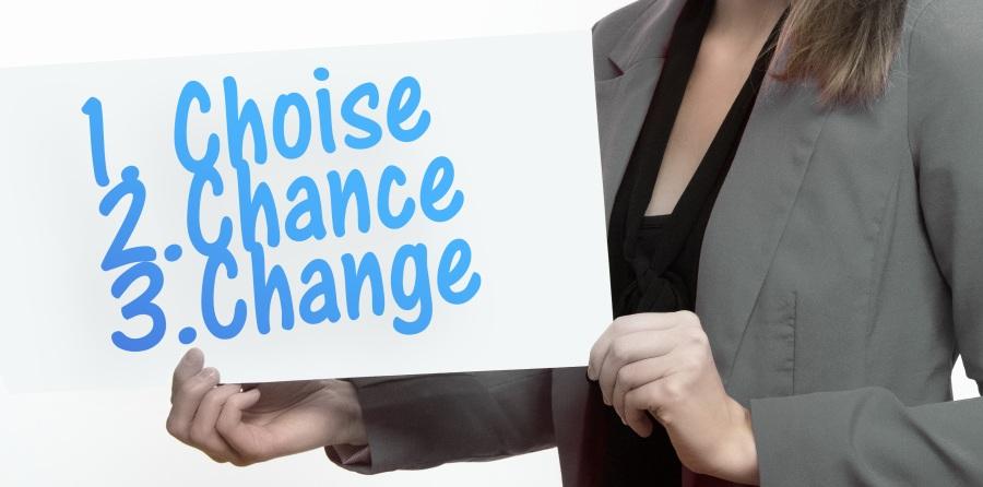 Pilihan -  Kesempatan - dan Perubahan sepenuhnya ada di tangan Anda