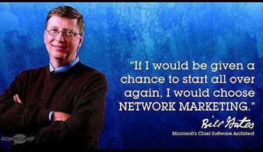 Bill Gates ; Pendiri dan CEO Microsoft yang merekomendasikan Bisnis Network Marketing (M-L-M)