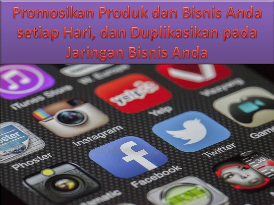 Membangikan Informasi Bisnis dan Produk melalui Media Sosial yang Sukses Setiap Hari, tanpa Meninggalkan Rumah Anda
