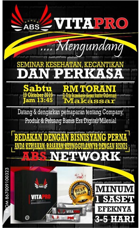 Business Opportunity Presentatio (BOP) VitaPro Makassar